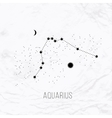 astrology elements aquarius on white vector image