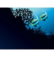 Bannerfish in corals vector image vector image