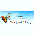 beautiful abstract summer nature background vector image vector image