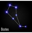 Bootes Constellation with Beautiful Bright Stars vector image vector image