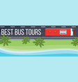 bus tours banner vector image vector image
