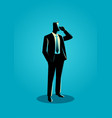 businessman in formal suit standing while on phone vector image vector image