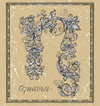capricorn or goat zodiac sign on frame vector image vector image