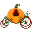 Cartoon Pumpkin carriage vector image