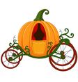 Cartoon Pumpkin carriage vector image vector image