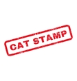 Cat Stamp Text Rubber Stamp vector image vector image