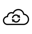 cloud sync or cloud refresh with arrows line icon vector image