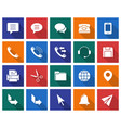 collection of square icons user interface set 3 vector image