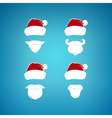 Colorful Santa Claus Face on a Blue Background vector image vector image