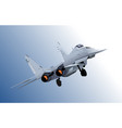 combat aircraft colored 3d for designers vector image vector image
