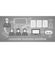 Corporate Business Workflow Banner vector image vector image