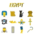 Egypt flat icons set vector image vector image