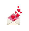 envelope with hearts love correspondence vector image