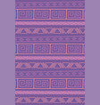 ethnic handmade tribal vintage ancient seamless vector image