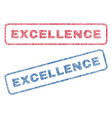 excellence textile stamps vector image vector image