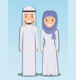 family and social concept muslim couple vector image