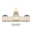 flat of the idaho state capitol vector image vector image