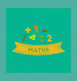 flat shading style icon math lesson vector image vector image