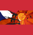 france war propaganda hand fist strike with arm vector image