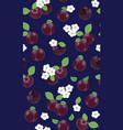 fresh purple plum seamless pattern with white vector image