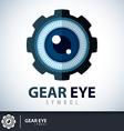 Gear eye symbol icon vector image vector image