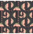 Geometric seamless pattern with watermelons vector image vector image