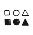 geometric shapes set hand drawn vector image