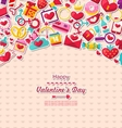 Greeting Card for Valentines Day vector image vector image