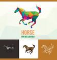 horse farm animal with polygonal geometric style vector image