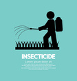 Human Spraying Insecticide vector image vector image