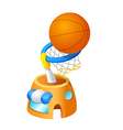 icon basketball vector image vector image