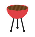 isolated retro barbecue grill icon vector image