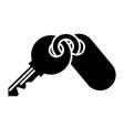 keys apartment icon black vector image