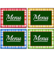 Label design with different colors vector image vector image