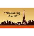 Landscape of city and eiffel tower vector image