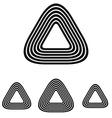 Line triangle logo design set vector image vector image