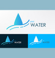 Logo water line wave