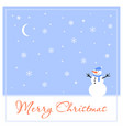 merry christmas greeting card for your friends vector image vector image