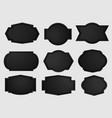 metal shield with dark black geometric grid vector image vector image