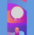 mobile application interface in memphis style vector image