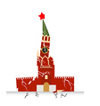 Moscow Kremlin destruction Earth-fault earthquake vector image