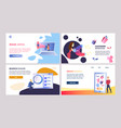online marketing set of color templates vector image vector image