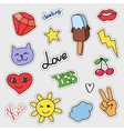 patch badges set stickers pins patches vector image vector image