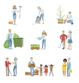 People Volunteers In Different Situations vector image vector image