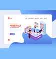 pharmacy concept banner vector image vector image