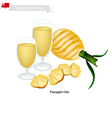 Pineapple Otai or Tongan Coconut and Pineapple vector image vector image