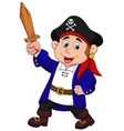 Pirate boy cartoon vector image vector image