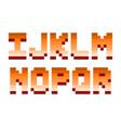 pixel retro font computer game design vector image vector image