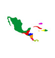 political map of central america vector image