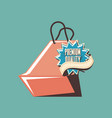 retro shopping bag premium quality stamp vector image